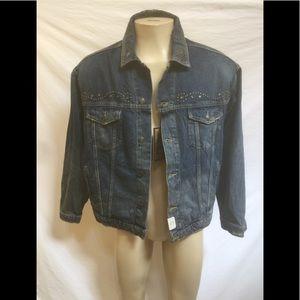 NWT Zara Man Size Large Denim Trucker Jacket